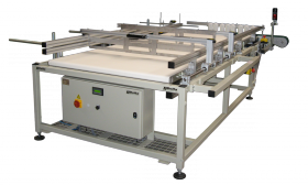 Manual tray depalletizer
