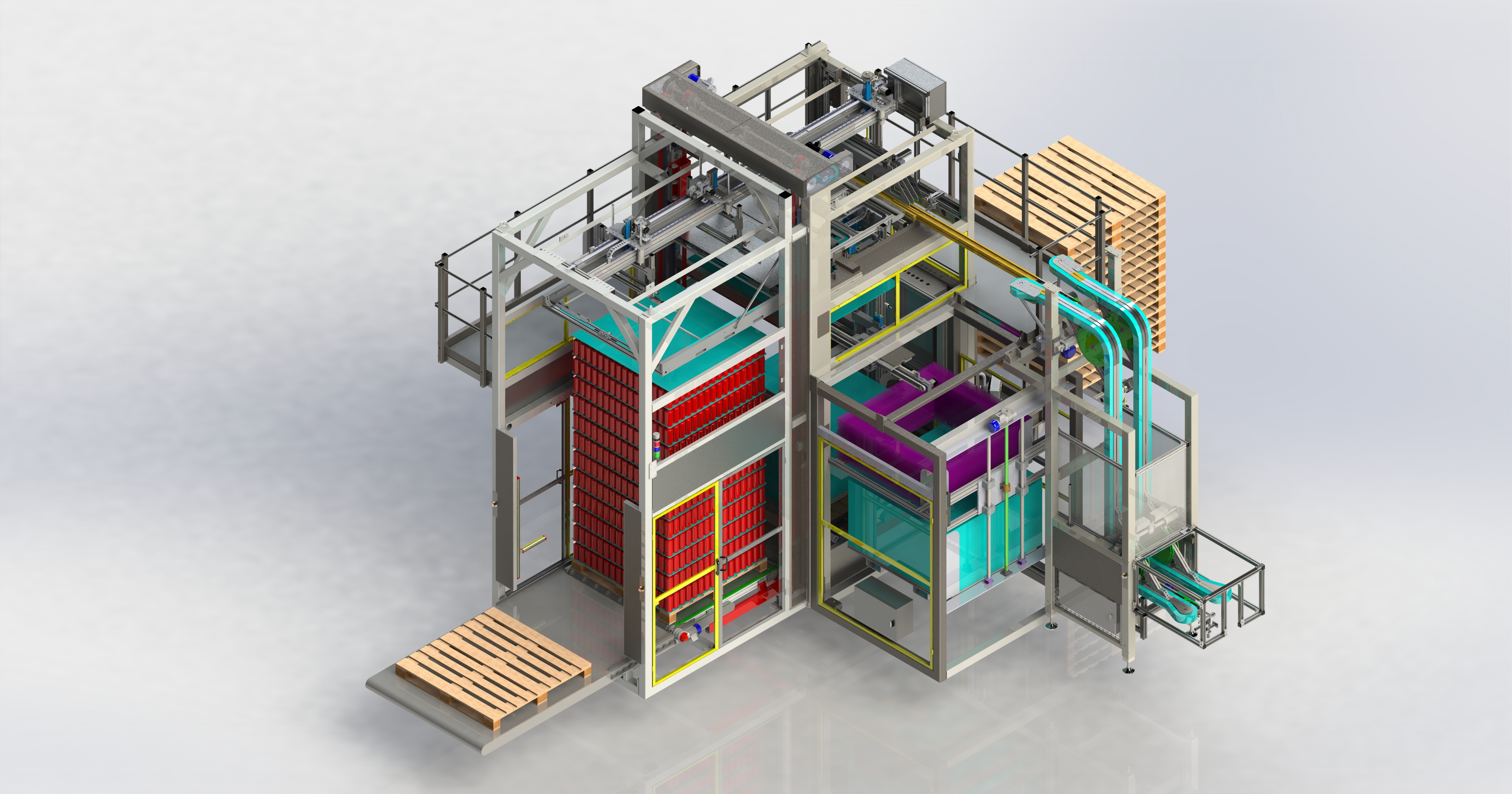 Fully automatic palletizer for flat sheets