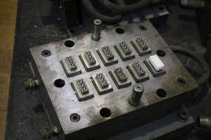 Lego injection mould, lower side