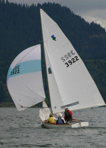 Sailcloth is typically made from PET fibers also known as polyester or under the brand name Dacron; colorful lightweight spinnakers are usually made of nylon