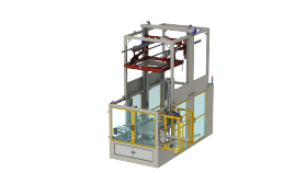 DP290 - Fully automatic compact palletizer stackable containers